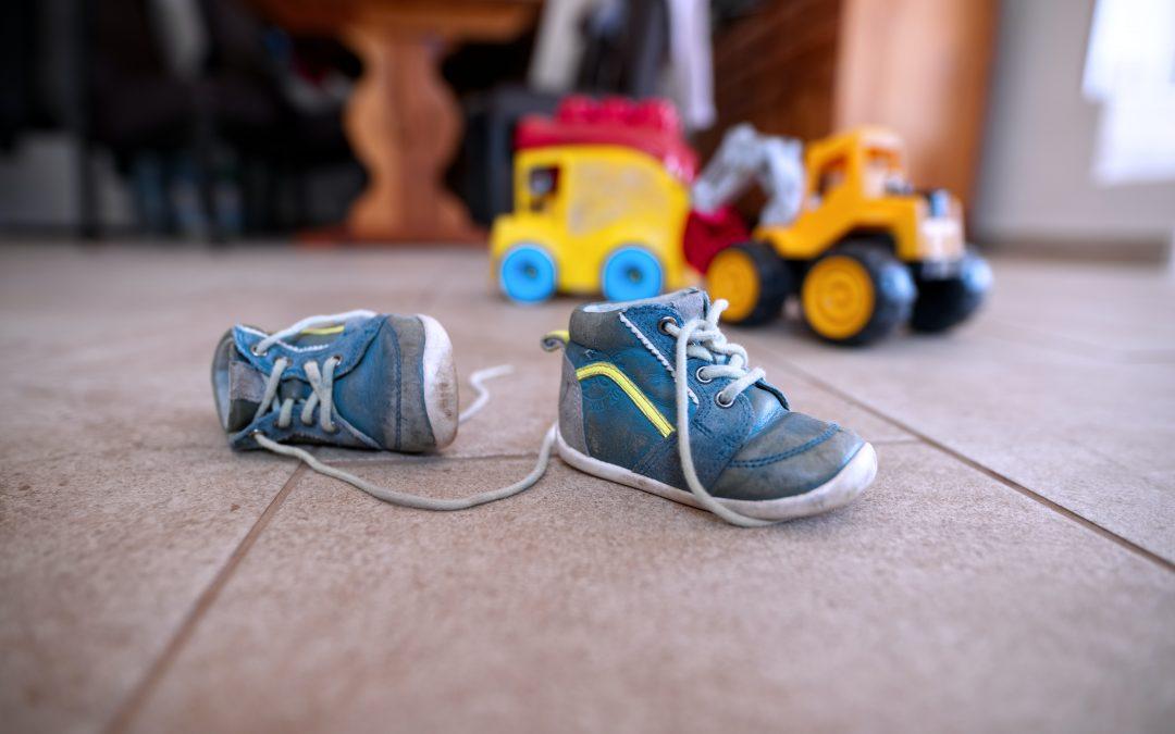 Barnets første par sko